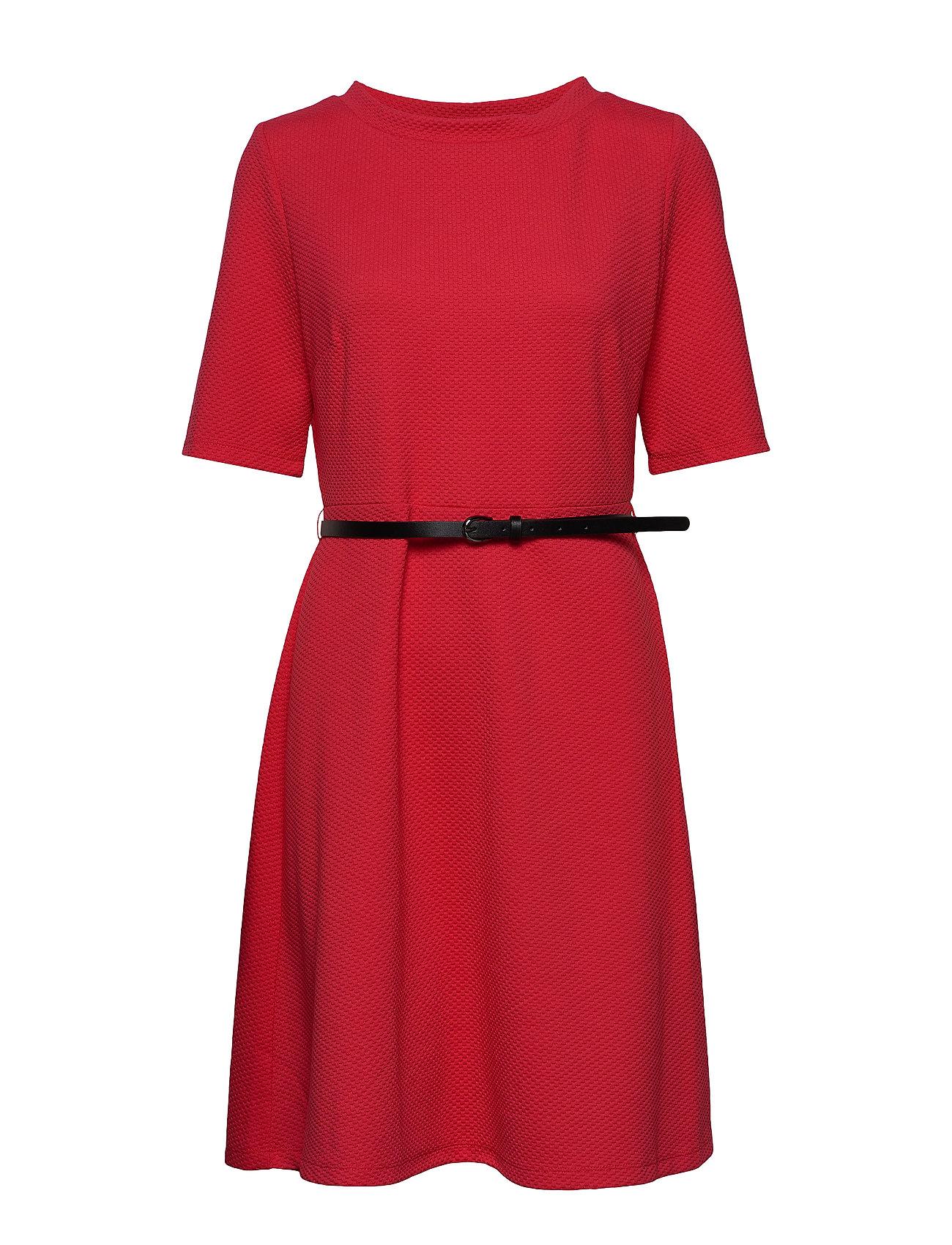 Image of Dress Knitted Fabric Knælang Kjole Rød Taifun (3307692125)