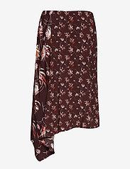Taifun - SKIRT SHORT WOVEN FA - midi skirts - deep burgundy patterned - 1