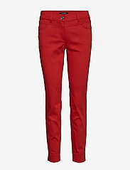 Taifun - CROP LEISURE TROUSER - straight leg trousers - spicy red - 0