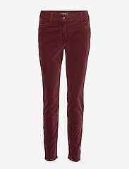 Taifun - LEISURE TROUSERS LON - raka byxor - ruby wine - 0