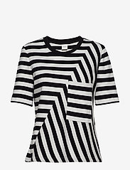 Taifun - T-SHIRT SHORT-SLEEVE - t-shirts - black patterned - 0