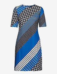 Taifun - DRESS KNITTED FABRIC - midiklänningar - cobalt blue patterned - 0