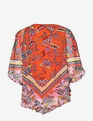 Taifun - TOP KNITTED FABRIC - kortärmade blusar - tigerlilly orange patterned - 1