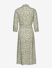 Taifun - DRESS WOVEN FABRIC - skjortklänningar - khaki leaf patterned - 1