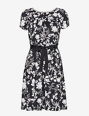 Taifun - DRESS KNITTED FABRIC - korta klänningar - navy patternd - 0
