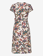 Taifun - DRESS KNITTED FABRIC - omlottklänning - linen patterned - 1