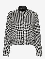 Taifun - JACKET KNIT FABRICS - wool jackets - black patterned - 0
