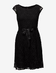 Taifun - DRESS WOVEN FABRIC - midimekot - black - 0