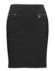 SKIRT SHORT WOVEN FA - INK PATTERNED
