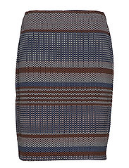 SKIRT KNITWEAR - MOONLIGHT BLUE STRIPE