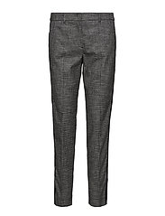 LEISURE TROUSERS LON - BLACK PATTERNED