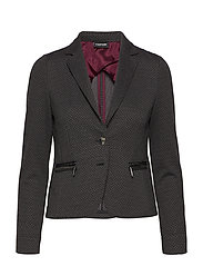 BLAZER LONG-SLEEVE - BLACK PATTERNED