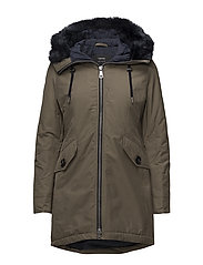 OUTDOOR JACKET NO WO - MOSS GREEN