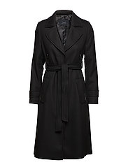 COAT WOOL - BLACK