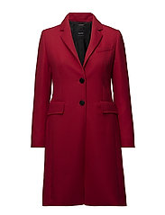 COAT WOOL - POPPY RED