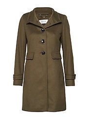 OUTDOORJACKET WOOL - OLIVE BRANCH