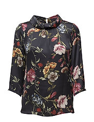 BLOUSE 3/4-SLEEVE - INK PRINT