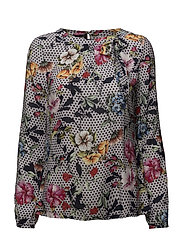 BLOUSE LONG-SLEEVE - MICRO CHIP PRINT