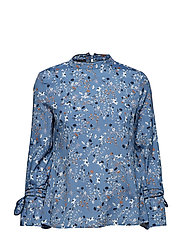 BLOUSE LONG-SLEEVE - MOONLIGHT BLUE PRINT