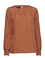 BLOUSE LONG-SLEEVE - MOCHA BIQUE