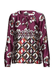 BLOUSE LONG-SLEEVE - ELDERBERRY PRINT