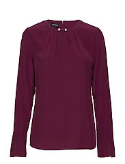 BLOUSE LONG-SLEEVE - ELDERBERRY