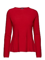 PULLOVER LONG-SLEEVE - POPPY RED