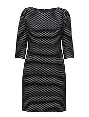 DRESS WOVEN FABRIC - INK PATTERNED
