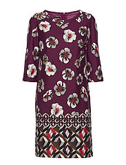 DRESS KNITTED FABRIC - ELDERBERRY PRINT