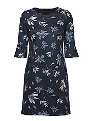 DRESS WOVEN FABRIC - NAVY PRINT