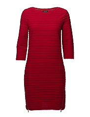 DRESS KNITTED FABRIC - POPPY RED