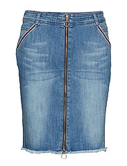 SKIRT SHORT WOVEN FA - BLUE DENIM