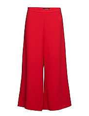 CROP LEISURE TROUSER - TOMATO
