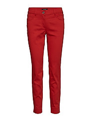 CROP LEISURE TROUSER - SPICY RED
