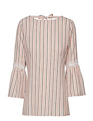 BLOUSE 3/4-SLEEVE - PEARL BLUSH PATTERNED