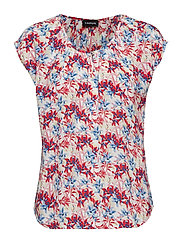BLOUSE SHORT-SLEEVE - OFF-WHITE PATTERNED