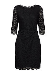 DRESS KNITTED FABRIC - BLACK