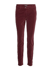 LEISURE TROUSERS LON - RUBY WINE