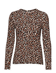 T-SHIRT LONG-SLEEVE - LIGHT CAMEL PATTERNED
