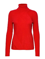 PULLOVER LONG-SLEEVE - LIPSTICK RED