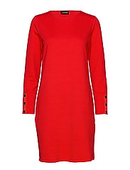 DRESS KNITTED FABRIC - LIPSTICK RED
