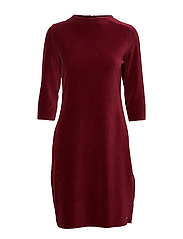 DRESS KNITTED FABRIC - RUBY WINE