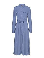 DRESS WOVEN FABRIC - CORNFLOWER BLUE