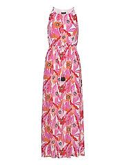 DRESS WOVEN FABRIC - PINK SUGAR PATTERNED