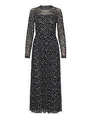 DRESS KNITTED FABRIC - BLACK PATTERNED
