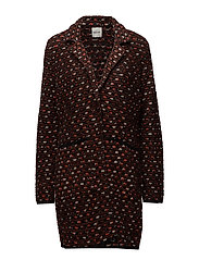 JACKET KNITWEAR - COGNAC PATTERNED
