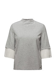 T-SHIRT 3/4-SLEEVE R - GRANITE-MELANGE