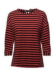 T-SHIRT 3/4-SLEEVE R - NAVY STRIPED