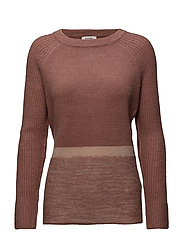 PULLOVER LONG-SLEEVE - MAHOGANY PATTERNED