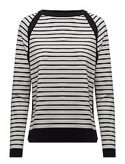 PULLOVER LONG-SLEEVE - OFF-WHITE STRIPE